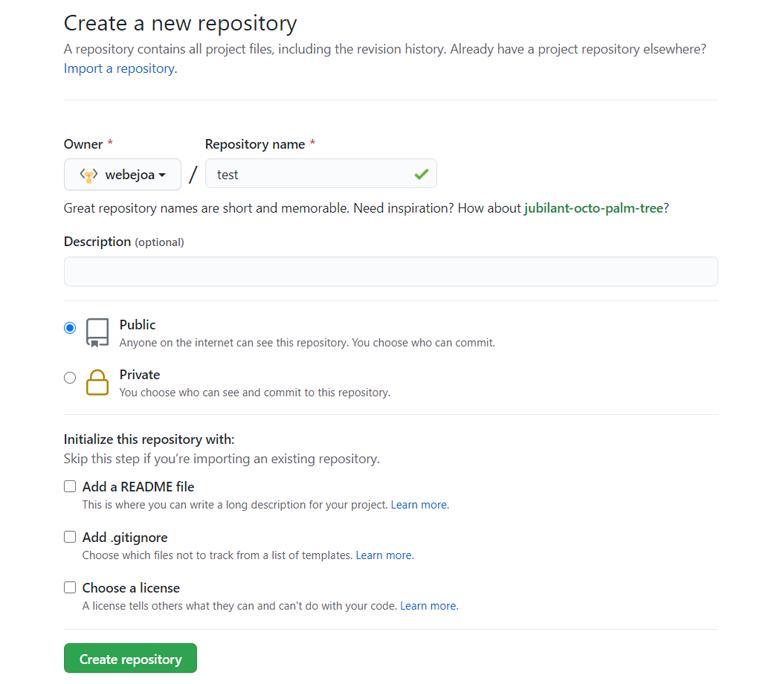 GitHub에서 Repogitory 생성